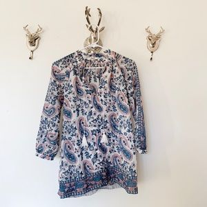 Madewell Camelia Tassel Paisley Floral Top | XS